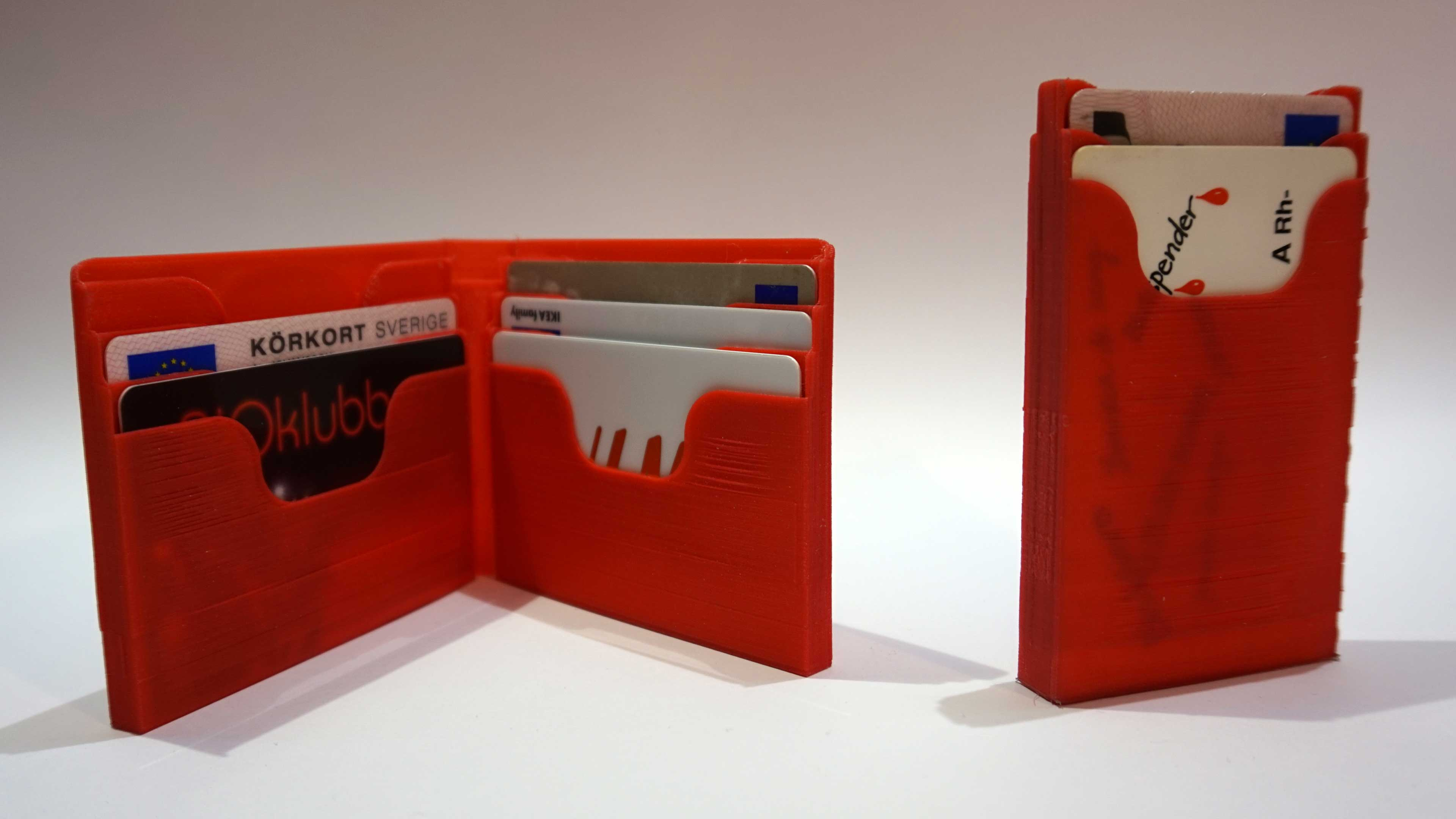Big & small 3D printed wallets
