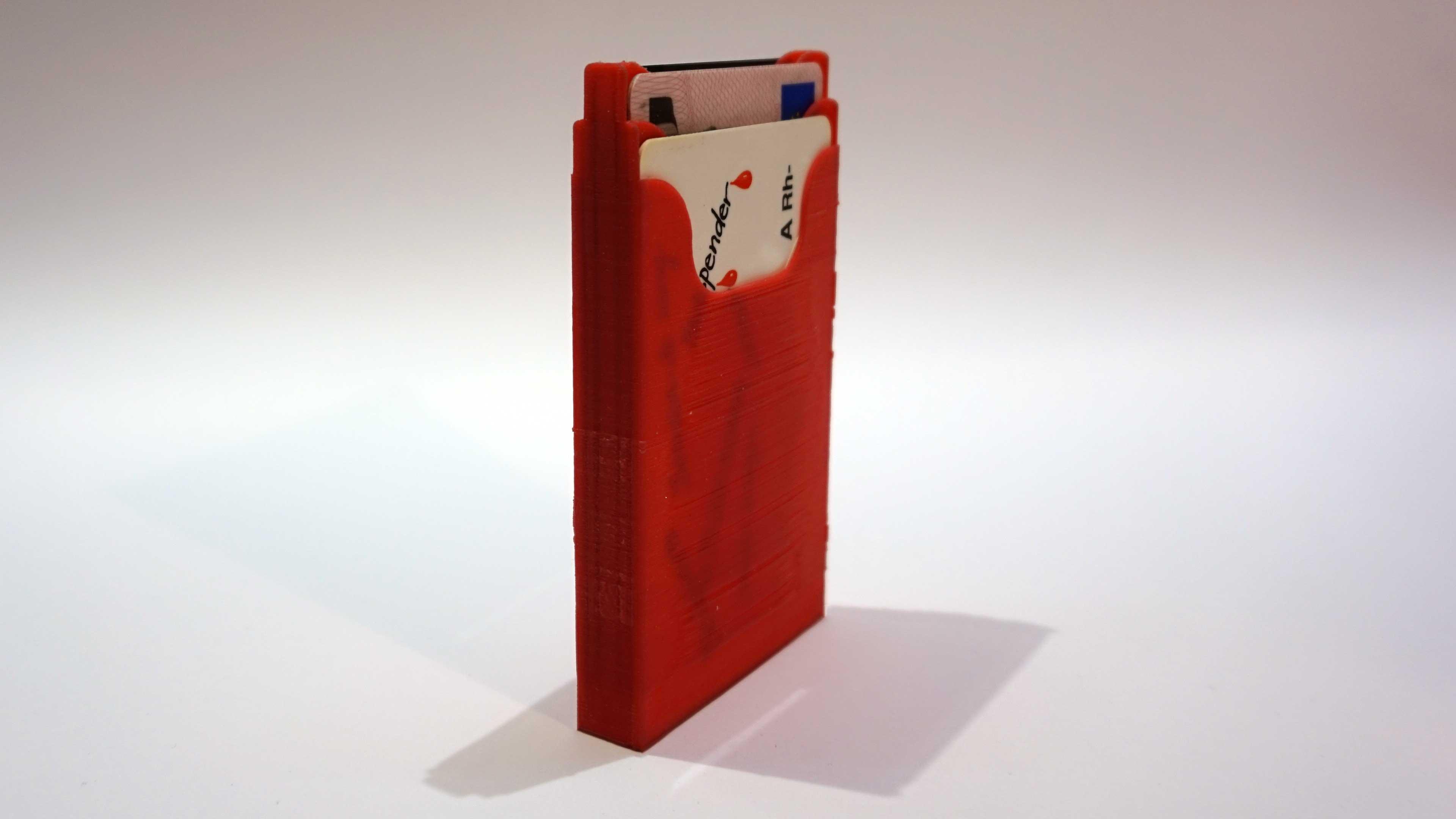Minimal 3D printed wallet