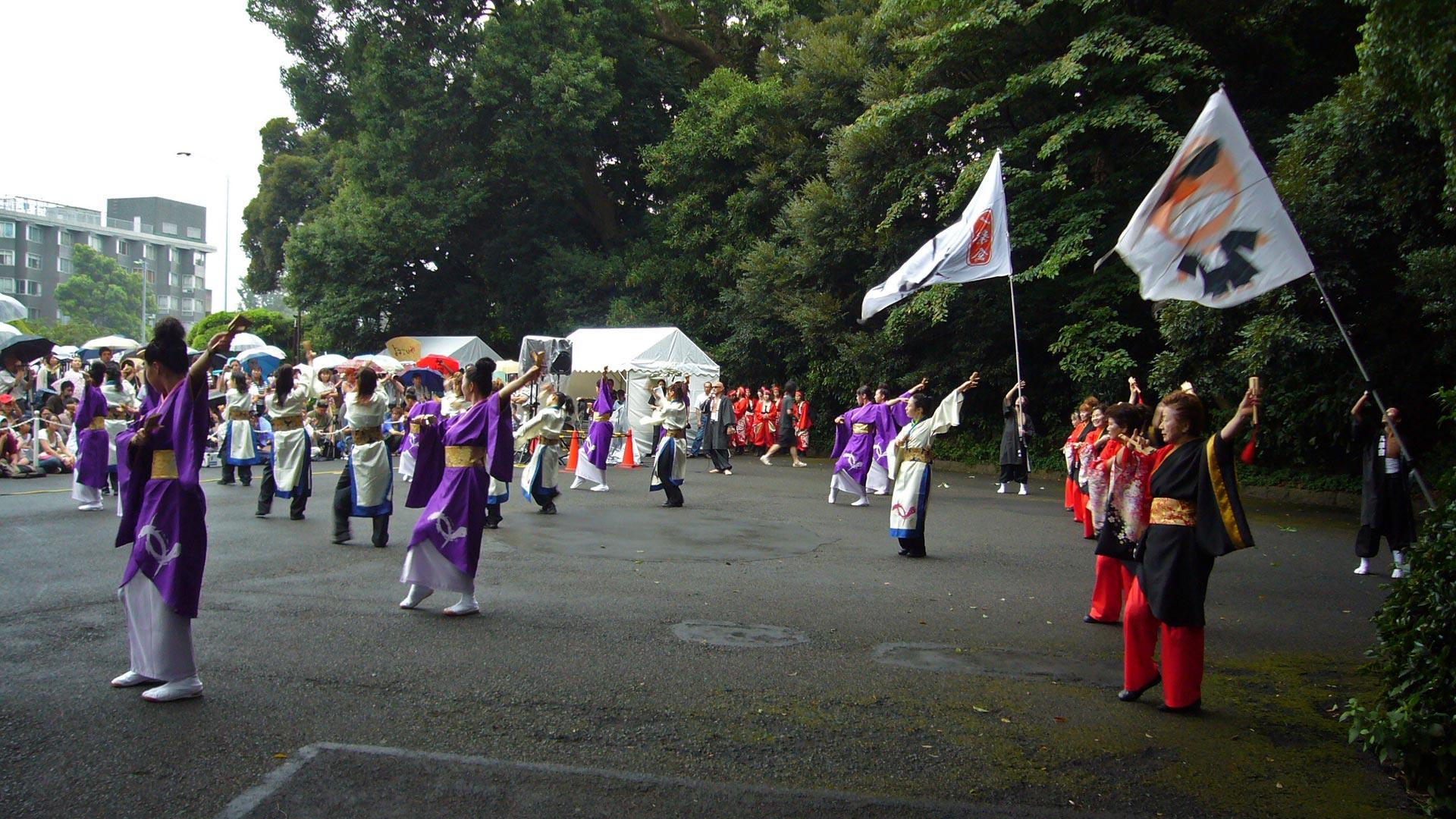 The street performances