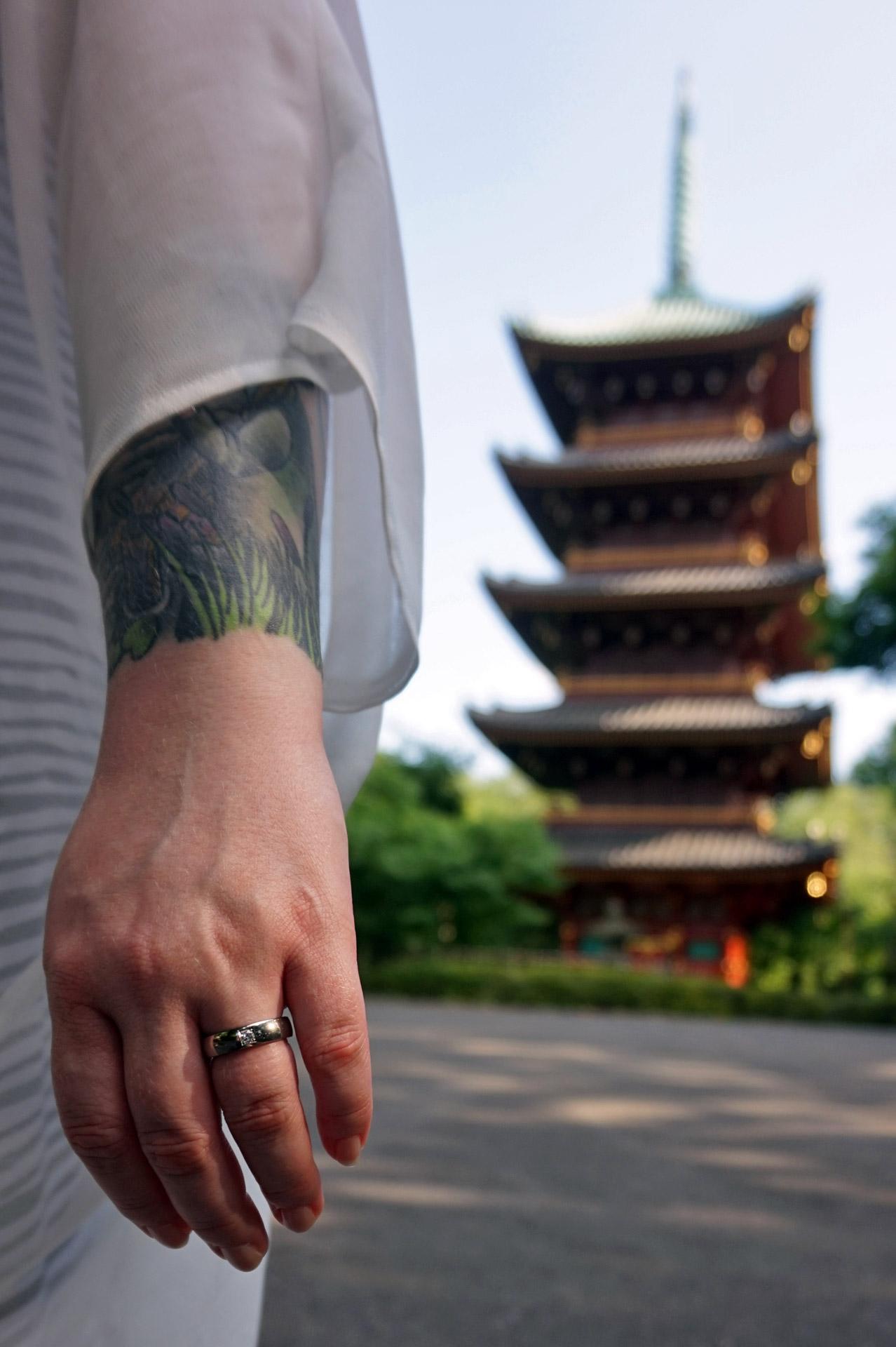 The pagodas