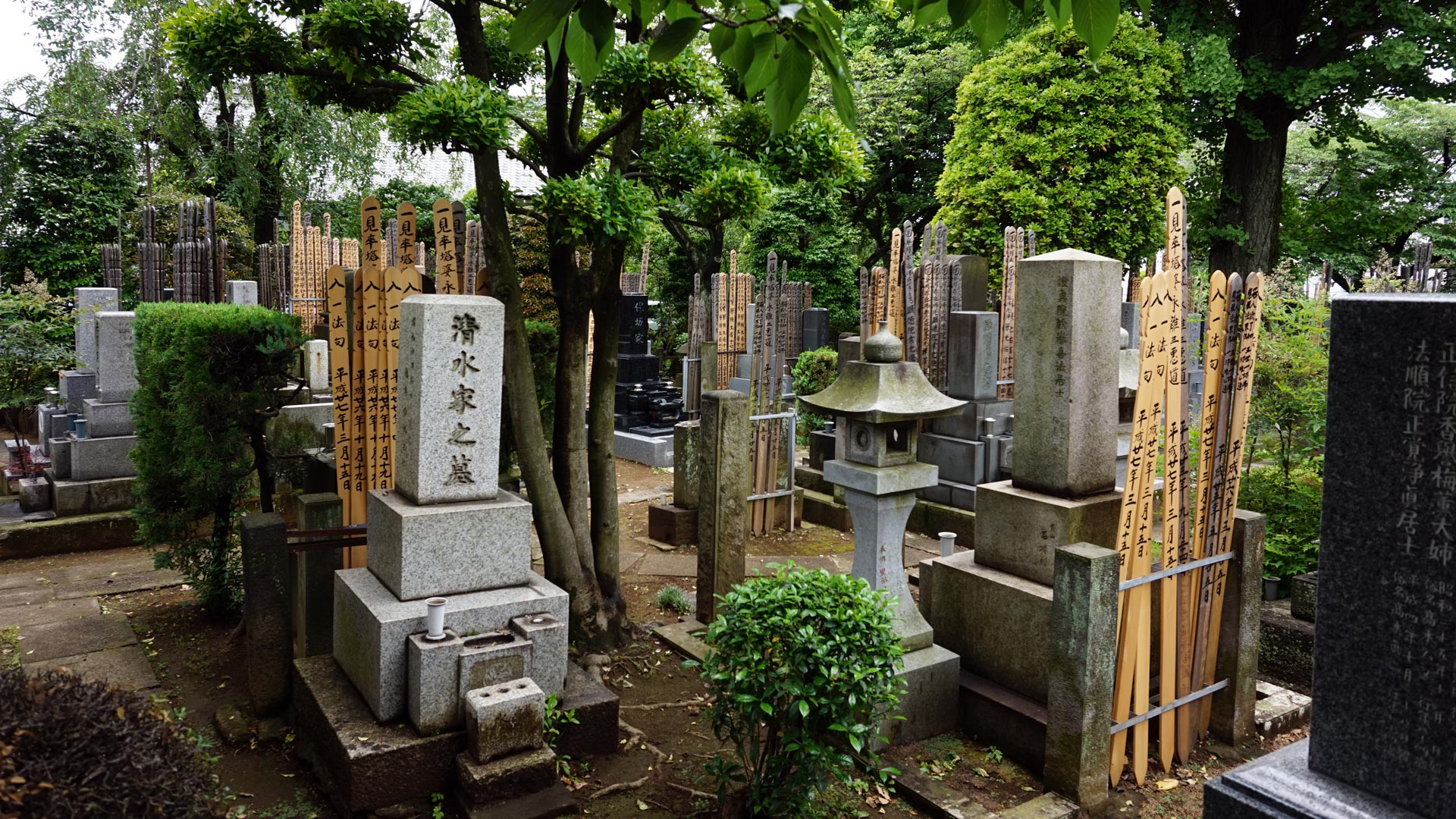 The beautiful cemeteries